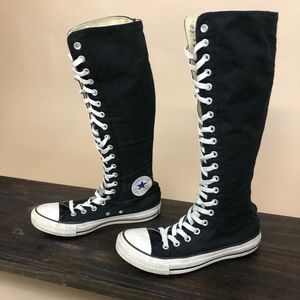 Converse All Stars Knee High Zip Back Sneakers 8